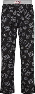Marvel Comics Tonal Hero Head Black Lounge Pant Pyjama Bottoms by Re:Covered