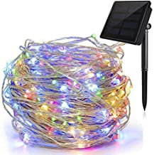 Solar String Lights, 33ft LED Copper Wire Lights, Starry Lights, Fairy Lights, Indoor/Outdoor Waterproof Solar Decoration ...
