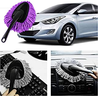 [2019 Upgrade] Wemaker Multi-Functional Car Dash Duster Interior & Exterior Cleaning Dirt Dust Clean Brush Dusting Tool Mop Gray car Cleaning Products Brand New (Purple)