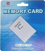 WICAREYO 1MB Memory Card per Playstation One PS1 Console 1 Mega Memory Card bianca