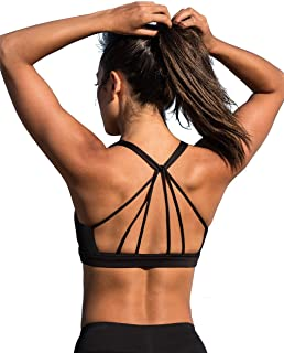 Best Padded Strappy Sports Bra Yoga Tops Activewear Workout Clothes for Women Review