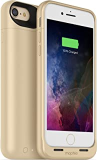 mophie juice pack wireless  - Charge Force Wireless Power - Wireless Charging Protective Battery Pack Case for Apple iPhone 8 and iPhone 7 - Gold