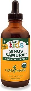 Herb Pharm Kids Certified-Organic Alcohol-Free Sinus Samurai Liquid Herbal Formula, 4 Ounce