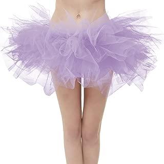 OBBUE Women's Vintage 5 Layered Tulle Tutu Puffy Ballet Bubble Skirt