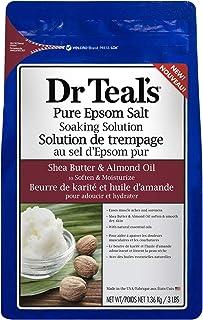 Dr. Teal's Epsom Bath Salt - Shea Butter & Almond Oil, 1.36Kg