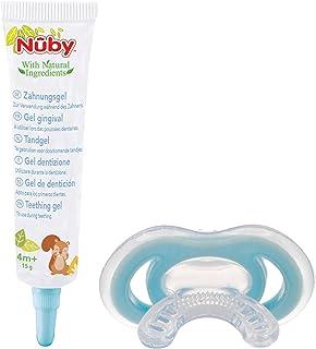 Nuby - Combo Set: Gel gingival & mordedor Gum-eez –