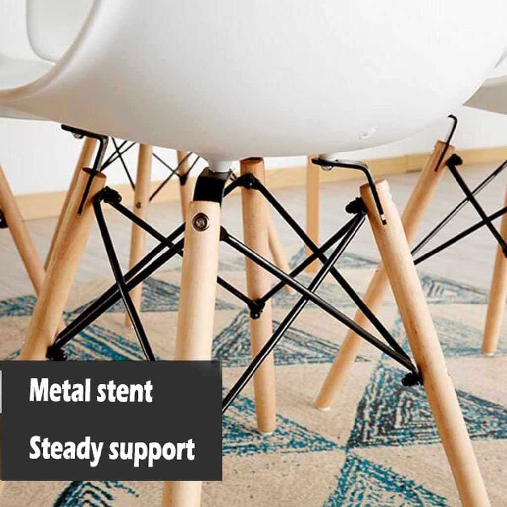 Président WGZ- Chaise à Manger en Plastique Adulte Bureau Tabouret Dossier Chaise ménage Moderne Simple Paresseux en Bois Massif Chaise Simple (Color : A) D