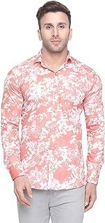 Menkovy Men's Floral Print Slim Fit Full Sleeve Casual Shirt