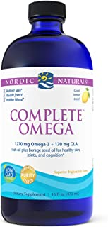 Nordic Naturals Complete Omega, Lemon Flavor - 1270 mg Omega-3-16 oz - EPA & DHA with Added GLA - Healthy Skin & Joints, C...
