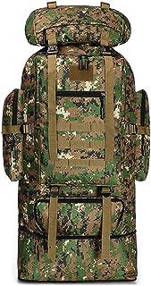 BYBYTO Mochila de Camuflaje de la Selva Bolsa de Senderismo 100l Daypacks Tactical Assault Pack, Ideal para el Deporte al Aire Libre Trekking Camping Travel Travel Rucks Mochila
