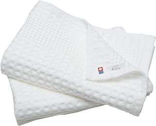 hiorie(ヒオリエ) 今治タオル 認定 バスタオル ワッフルタオル 2枚セット ホワイト 日本製 速乾 今治ブランド