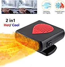 JINGOU Car Heater Defogger 12V Fast Cooling Car Space & Heating Defroster, Automobile Windscreen Fan, Heat Cooling Fan 2 in1, Plug in Cigarette Lighter