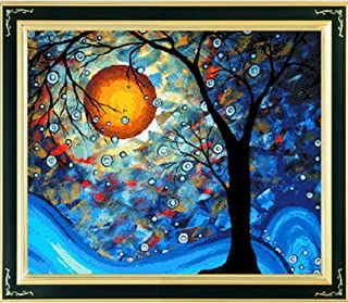 Labellevie Kreuzstich Stickerei DIY Handarbeit Stickpackung 80cm x 68cm: Baum der Träume