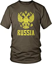 Amdesco Men's Eblem of The Russian Federation, Russia Arms T-Shirt