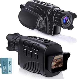 KINKA Night Vision Monocular Goggles, Travel Infrared Digital Monocular for 100% Darkness, Day and Night Vision for Adult...
