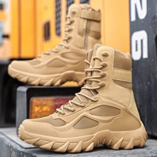 N\C Outdoor Military Fan Shoes, High-top Tactical Boots, Special Forces Combat Boots, Military Boots, Outdoor Climbing Tra...