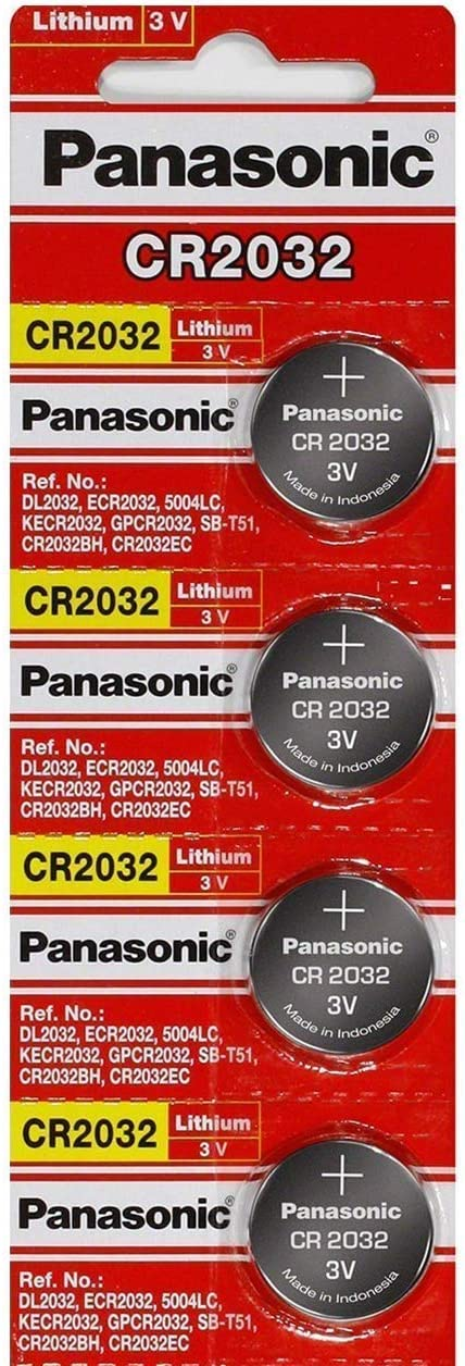 Panasonic Cr2032 3v Lithium Knopfzellen Dl2032 Ecr2032 Elektronik