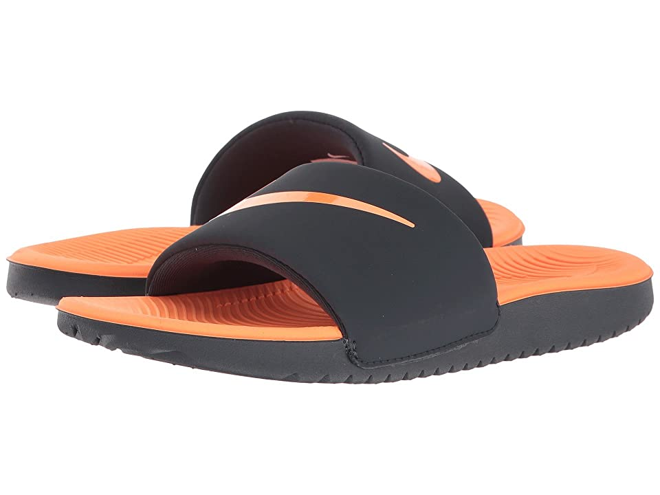 Nike Kids Kawa Slide (Little Kid/Big Kid) (Anthracite/Tart) Boys Shoes