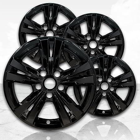 "Set of 4 Gloss Black 5 Spoke 17/"" Wheel Skins for 2015-2020 Chevy Colorado LT"