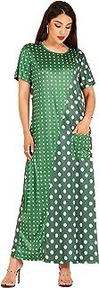 MAI&FUN Women Maxi Dress Summer Casual A Line Dress Floral Print Polka Dot