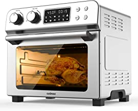 Air Fryer, 12-in-1 Air Fryer + Toaster Oven with 10 Cooking Presets, 23 Quart Capacity Ovens Countertop, Convection Roaste...