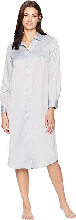 Satin Notch Collar Ballet Sleepshirt