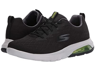 SKECHERS Performance Go Walk Air Nitro (Black/Lime) Men