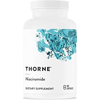 Thorne Research - Niacinamide - Vitamin B3 Nicotinamide (Niacin) Supplement - 180 Capsules