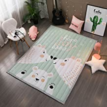 """Infant Shining Baby Play Mat 79""""x55""""x1"""" Thick Cotton, Baby Crawling mat Anti-Skid Children Carpet for Kids' Room(Bear Family)"""