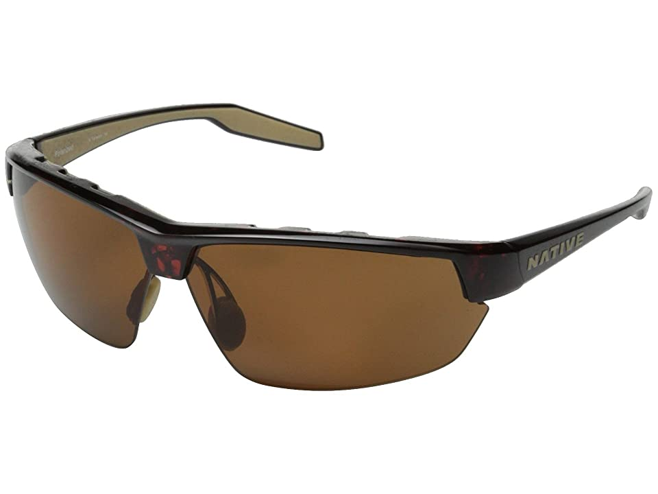 Native Eyewear Hardtop Ultra (Maple Tort/Brown) Sport Sunglasses