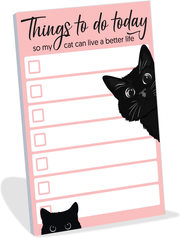 Sticky Memo pads Jancat Series Sticky Notes Planner Sticky Notes Journal Memo Pads Kawaii Notepad Cute Cat Illustration