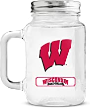 NCAA Wisconsin Badgers 20oz Glass Mason Jar