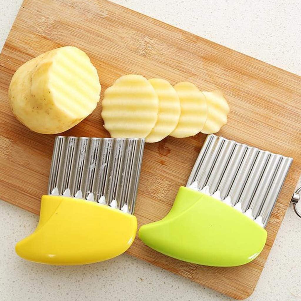 cortador de patatas y verduras cortador de arruga de acero sin dolor Miaison Cortador de verduras ondulado