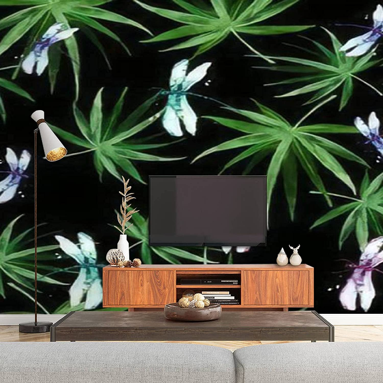 Watercolor Nashville-Davidson Mall Palm Leaf Long Beach Mall Seamless Pattern Tropical Haw Jungle Leaves
