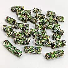 27 Antique Venetian/Murano Millefiori Glass African Trade Beads - Watermelons