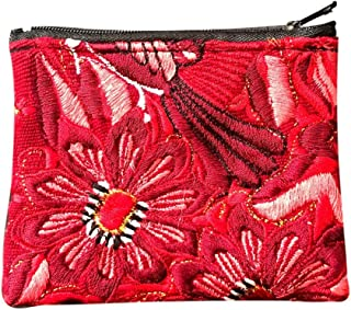 Guatemalan Embroidered Coin Purse - Rojo Flores