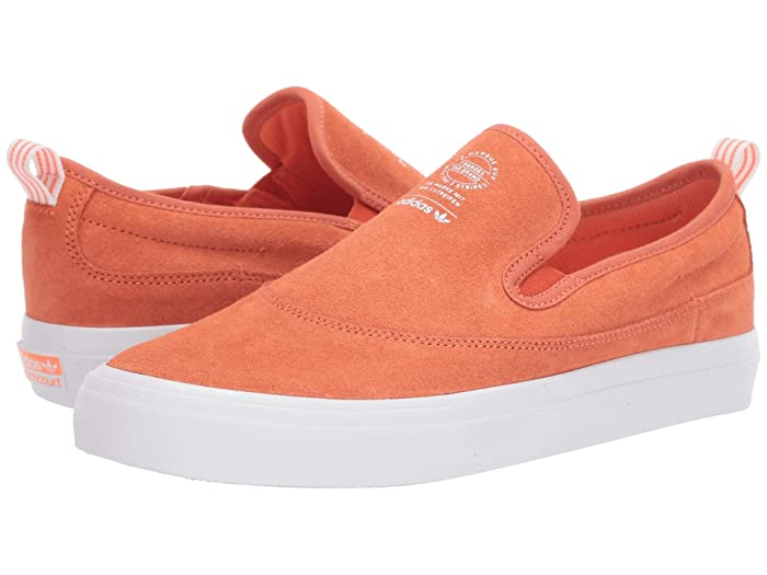 adidas Skateboarding  Matchcourt Slip (Semi Coral/Footwear White/Gum 4) Mens Skate Shoes