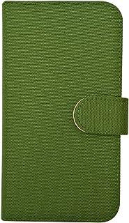 sslink SO-03G/SOV31/402SO Xperia Z4 エクスぺリア 手帳型 ケース (グリーン) 無地 キャンバス 生地 帆布 ファブリック ダイアリータイプ 横開き カード収納 フリップ カバー スマホ スマートフォン