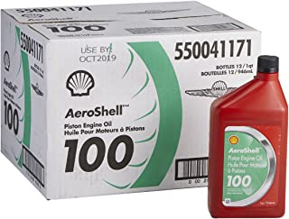AeroShell Oil 100 SAE Grade 50 Straight Mineral Aircraft Oil - 12 Quart/Case