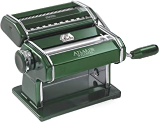 Marcato 8320GN Atlas 150 Machine, Made in Italy, Green, Includes Pasta Cutter, Hand Crank, and Instructions