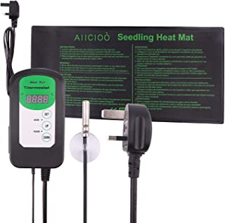 Sponsored Ad – AIICIOO Seedling Heating Mat with Thermostat Controller - Seed Germination Plant Warm Pad with Temperature ...