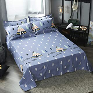 Big Bed Linen Sheets Micro-Commercial Group Purchase Explosions Entity Wholesale Single Double Student Dormitory Exhibition Gifts Forest Park 120230cm