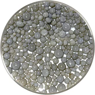 New Larger 1oz Size Light Silver Gray Transparent Frit Balls 90COE Made from Bullseye Glass by New Hampshire Craftworks