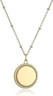 Best disc pendant necklace gold Reviews