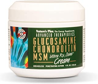 Natures Plus - Glucosamine Chondroitin Msm Ultra Rx-Joint Cream In Tube 4 Oz. 48428