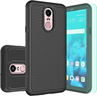 LG Stylo 4 Case,LG Q Stylus/Q Stylus Plus/Q Stylus Alpha Case with HD Screen Protector Huness Durable Armor and Resilient Shock Absorption Case Cover for LG Q Stylus,LG Stylo 4 Phone(Black)
