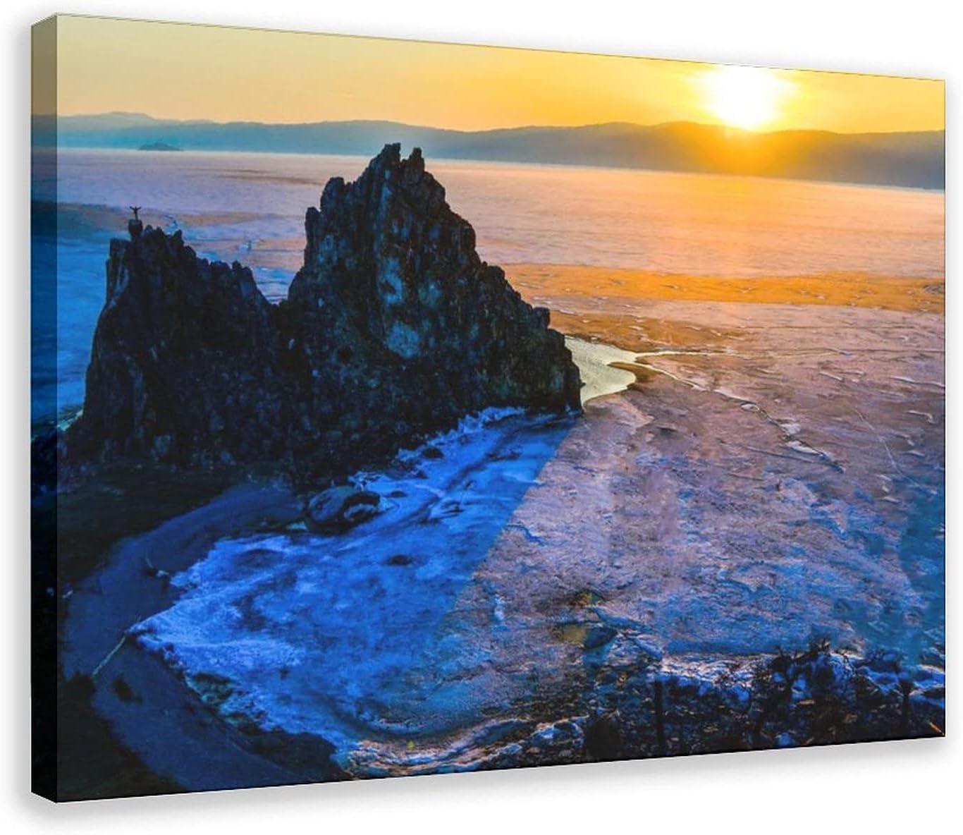 Landscape of Lake Baikal In stock Wallpaper Poster Bedroom Canvas 20 Selling De