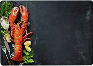 Tempered Glass Cutting Board Shellfish plate of crustacean seafood with fresh lobster mussels Tableware Kitchen Decorative...