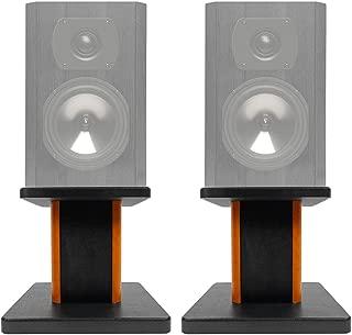 """ROCKVILLE 2 8"""" Wood Bookshelf Speaker Stands for Boston Acoustics CS23 Bookshelf Speakers"""