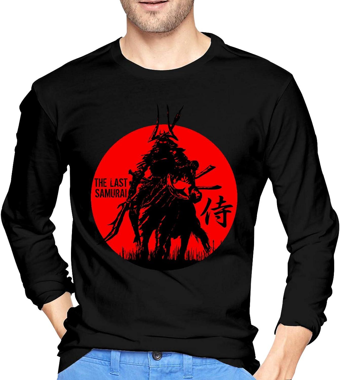 Japanese Kanji Samurai Bushido Ronin Crewneck Tops Ultra Soft Henley Shirts Long-Sleeve T-Shirts for Mans